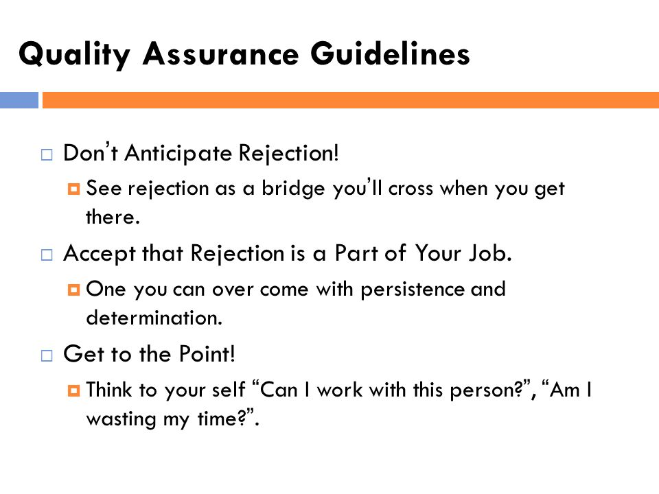 Quality Assurance Guidelines