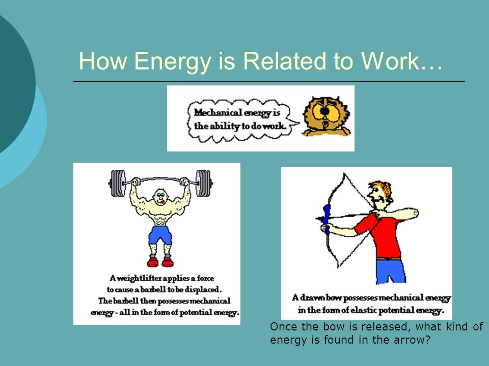 How Energy is Related to Work…