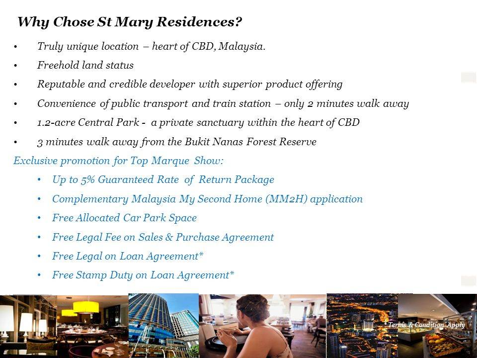 Why Chose St Mary Residences