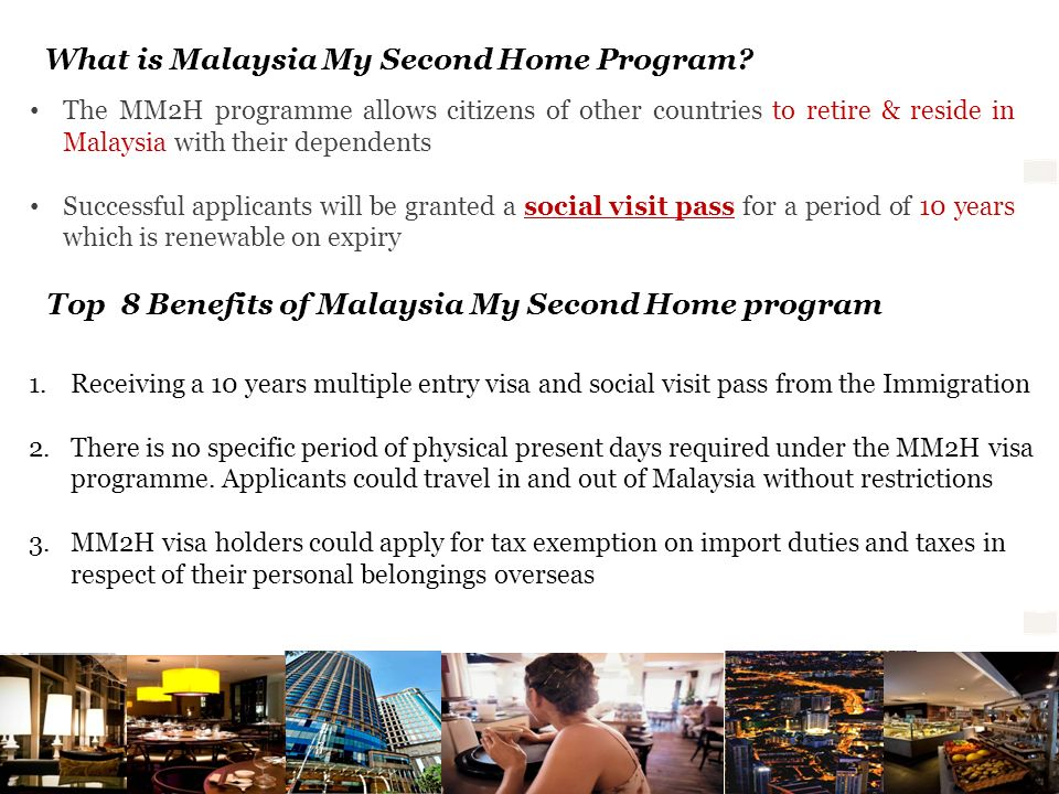 What is Malaysia My Second Home Program
