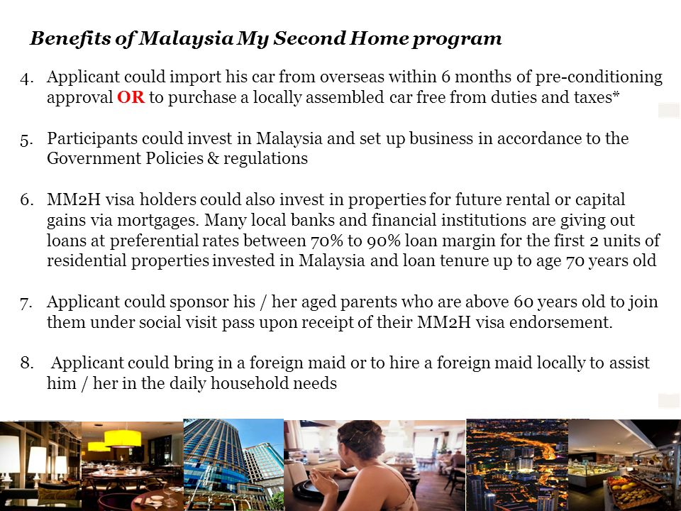 Benefits of Malaysia My Second Home program