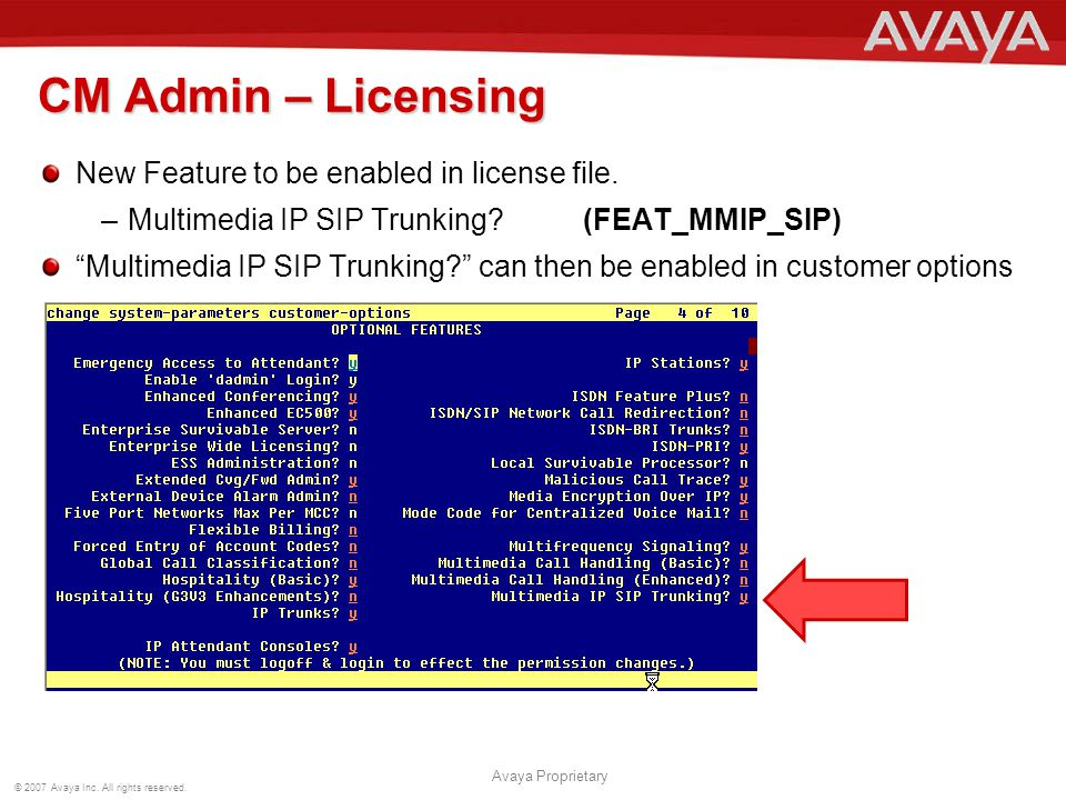 CM Admin – Licensing New Feature to be enabled in license file.
