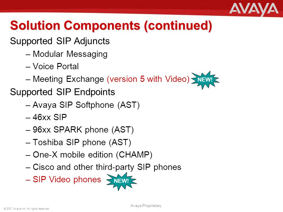 Solution Components (continued)