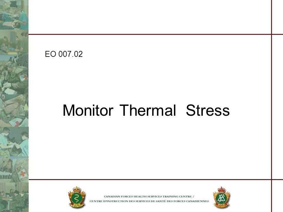 Monitor Thermal Stress