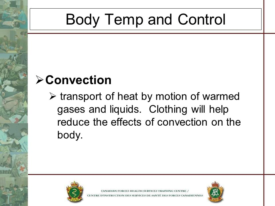 Body Temp and Control Convection