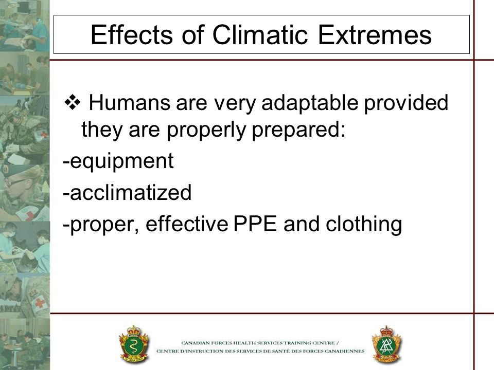 Effects of Climatic Extremes