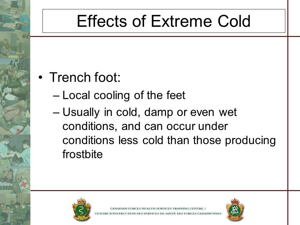 Effects of Extreme Cold
