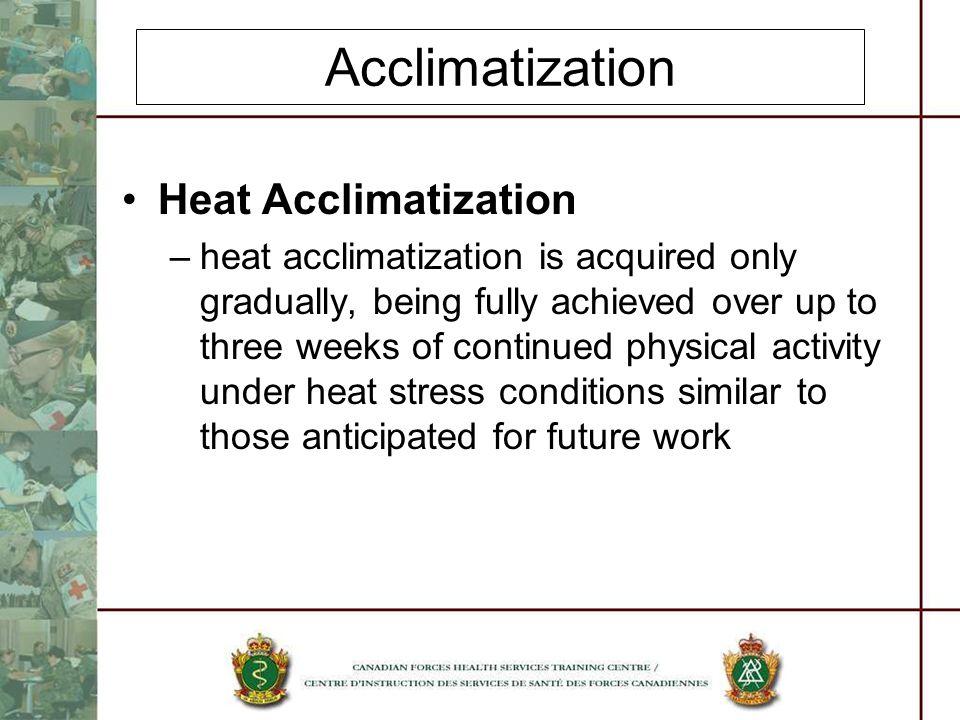 Acclimatization Heat Acclimatization