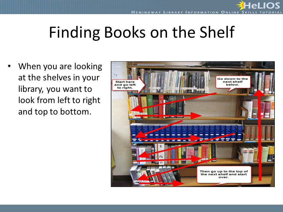 Finding Books on the Shelf
