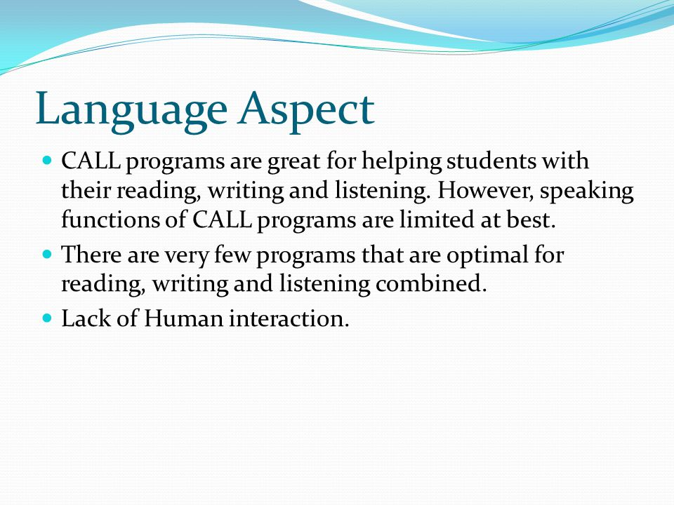 Language Aspect