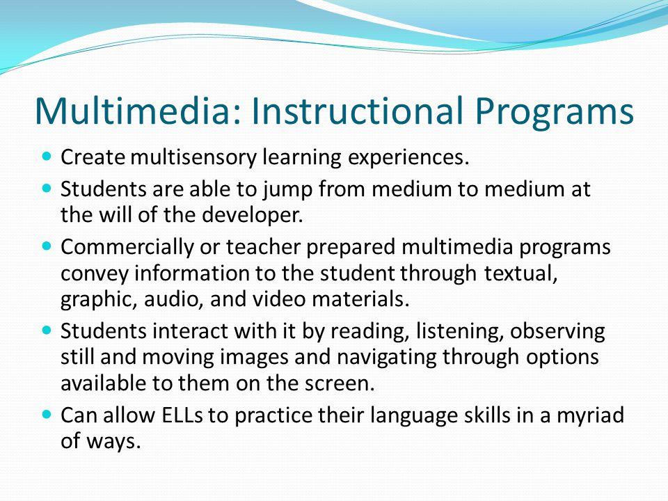 Multimedia: Instructional Programs
