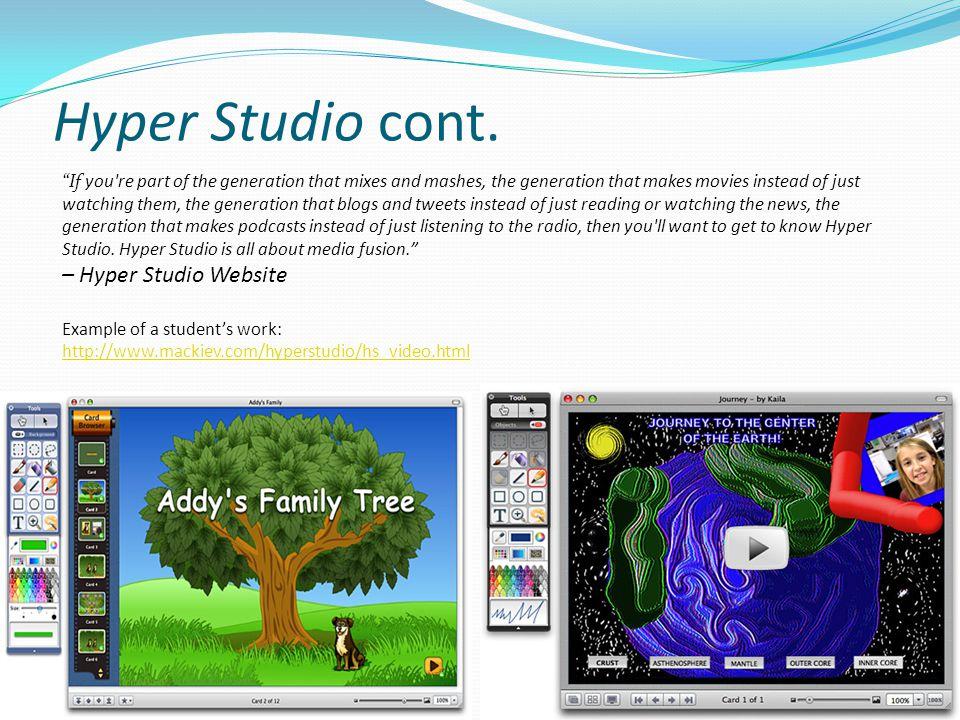 Hyper Studio cont. – Hyper Studio Website