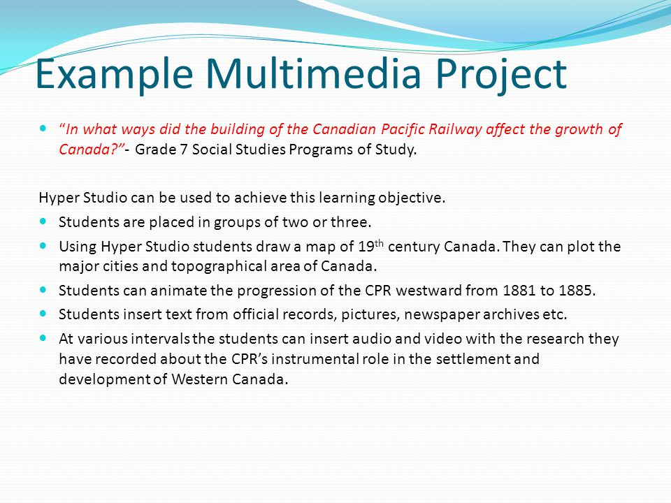 Example Multimedia Project