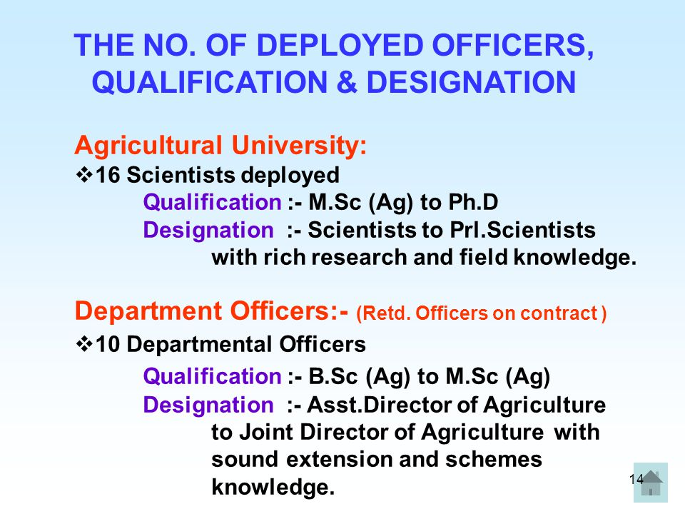 THE NO. OF DEPLOYED OFFICERS, QUALIFICATION & DESIGNATION