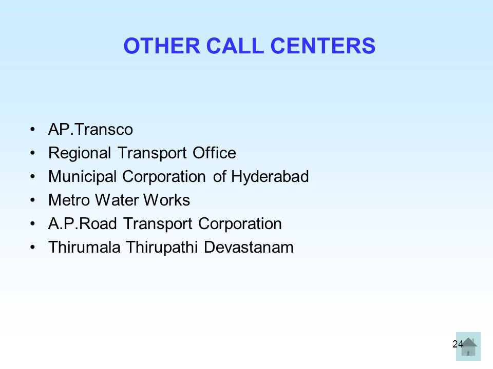 OTHER CALL CENTERS AP.Transco Regional Transport Office