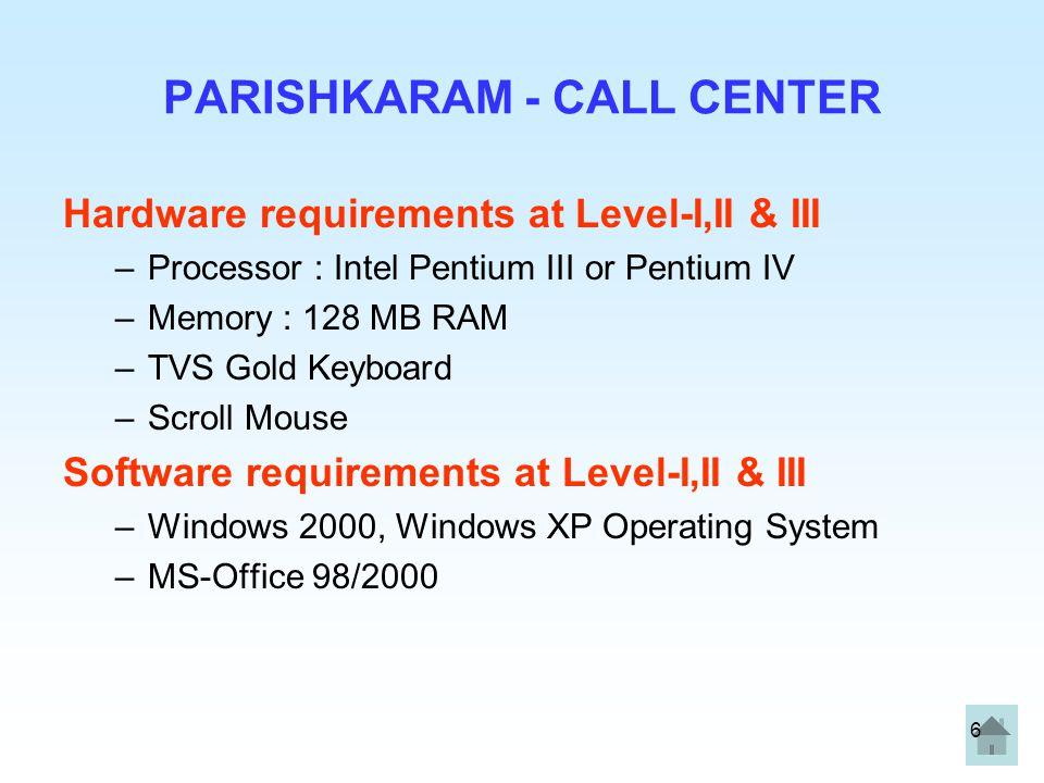 PARISHKARAM - CALL CENTER
