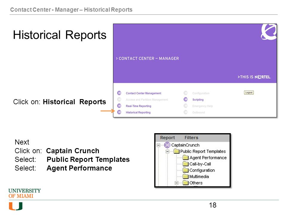 Historical Reports Click on: Historical Reports Next