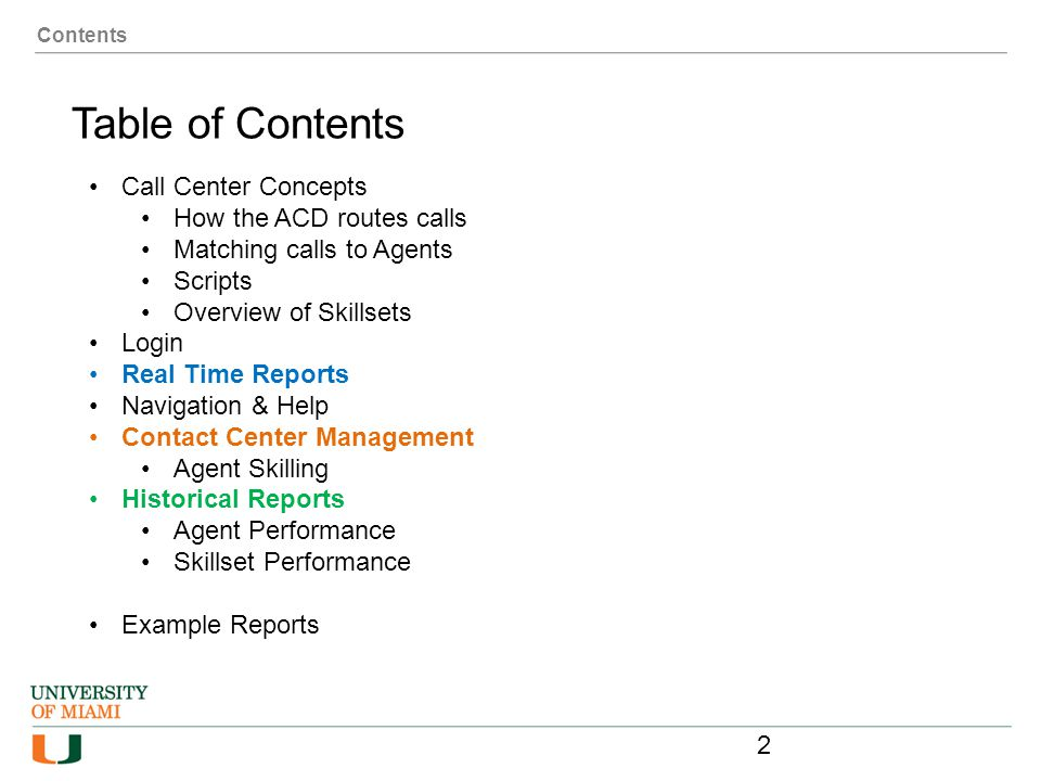 Table of Contents Call Center Concepts How the ACD routes calls