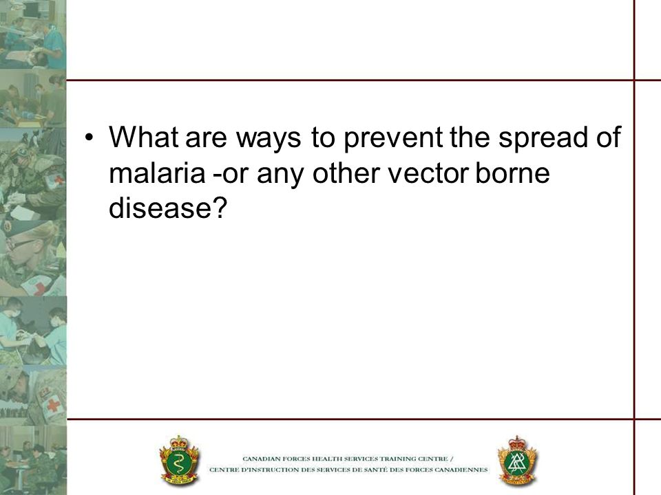What are ways to prevent the spread of malaria -or any other vector borne disease