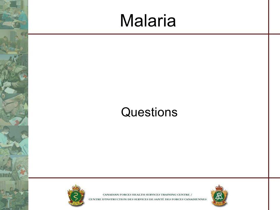 Malaria Questions