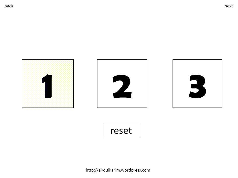 back next 1 2 3 reset
