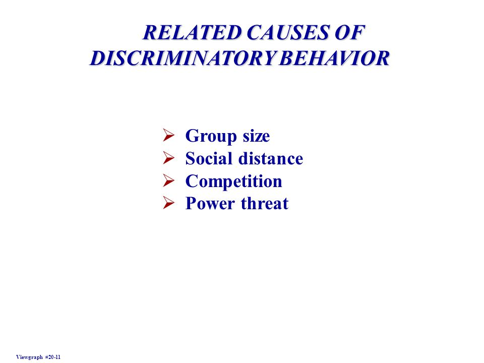 DISCRIMINATORY BEHAVIOR