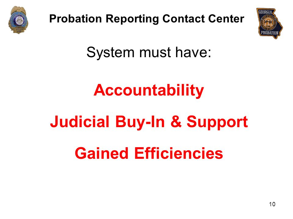 Probation Reporting Contact Center