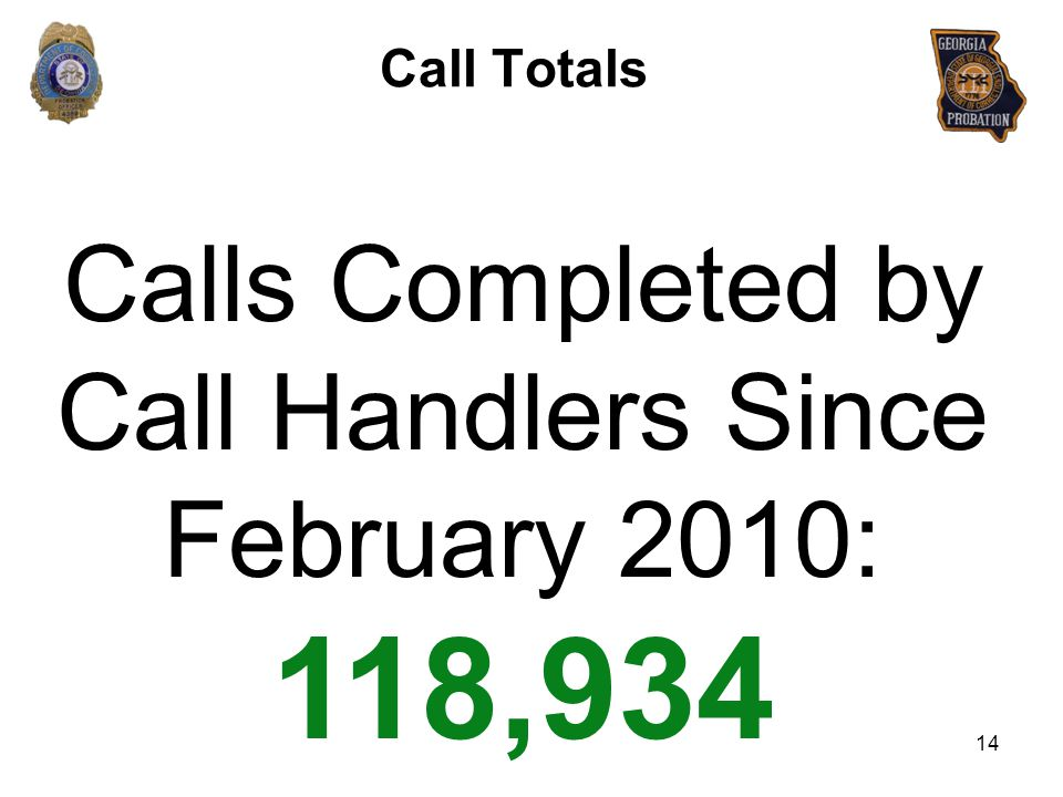 Calls Completed by Call Handlers Since February 2010: