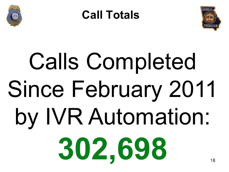 Calls Completed Since February 2011 by IVR Automation: