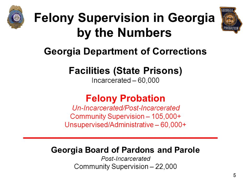 Felony Supervision in Georgia by the Numbers