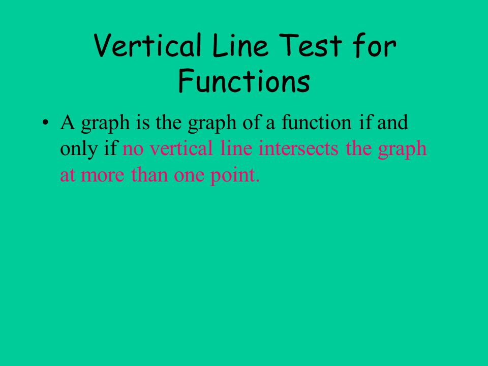 Vertical Line Test for Functions