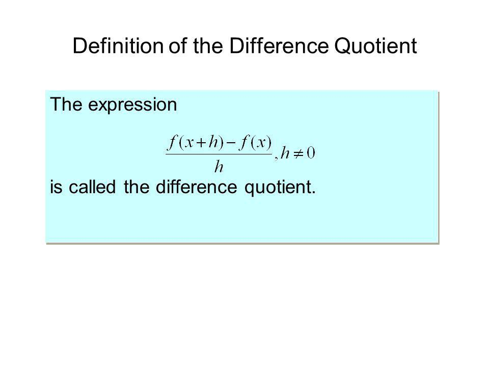 Definition of the Difference Quotient