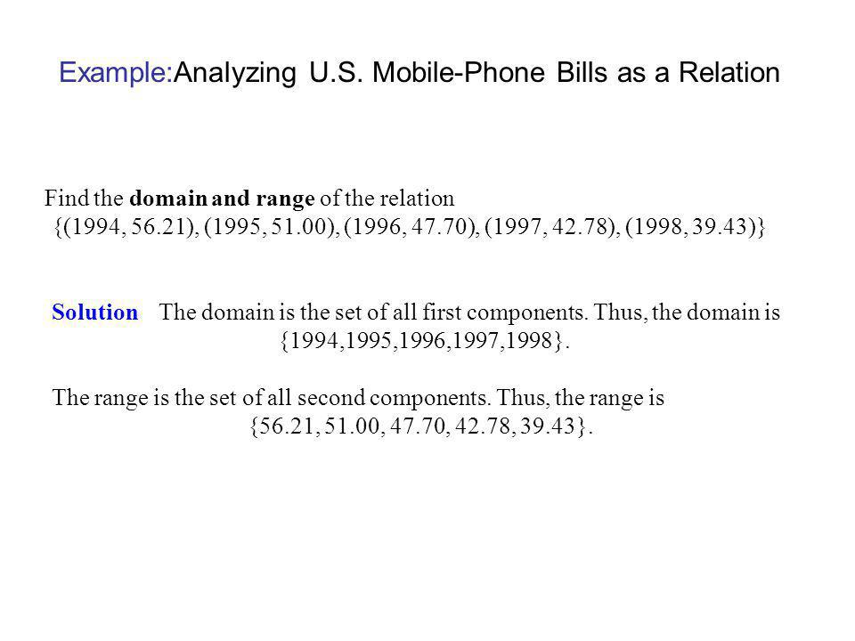 Example:Analyzing U.S. Mobile-Phone Bills as a Relation
