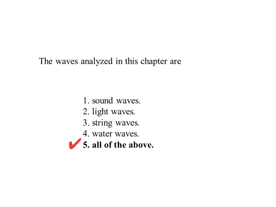 The waves analyzed in this chapter are