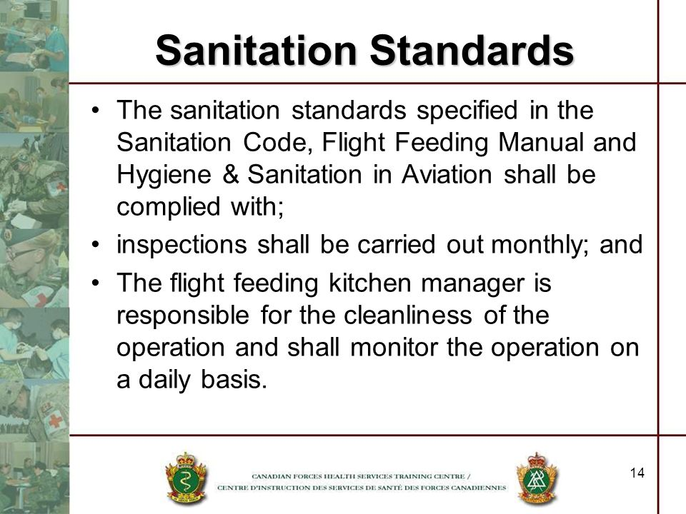 Sanitation Standards