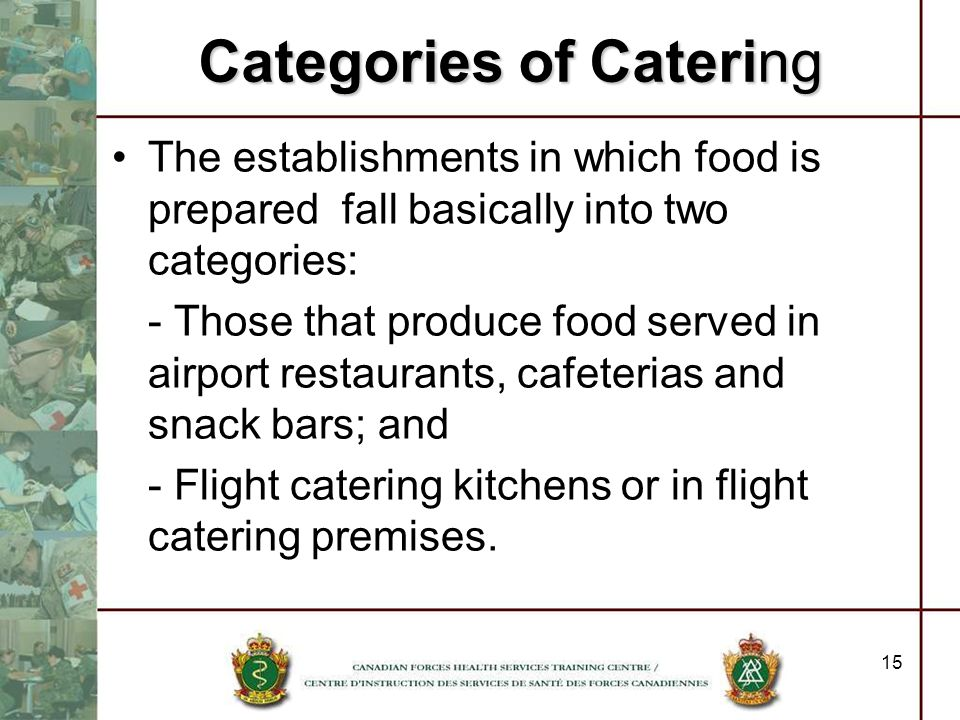Categories of Catering