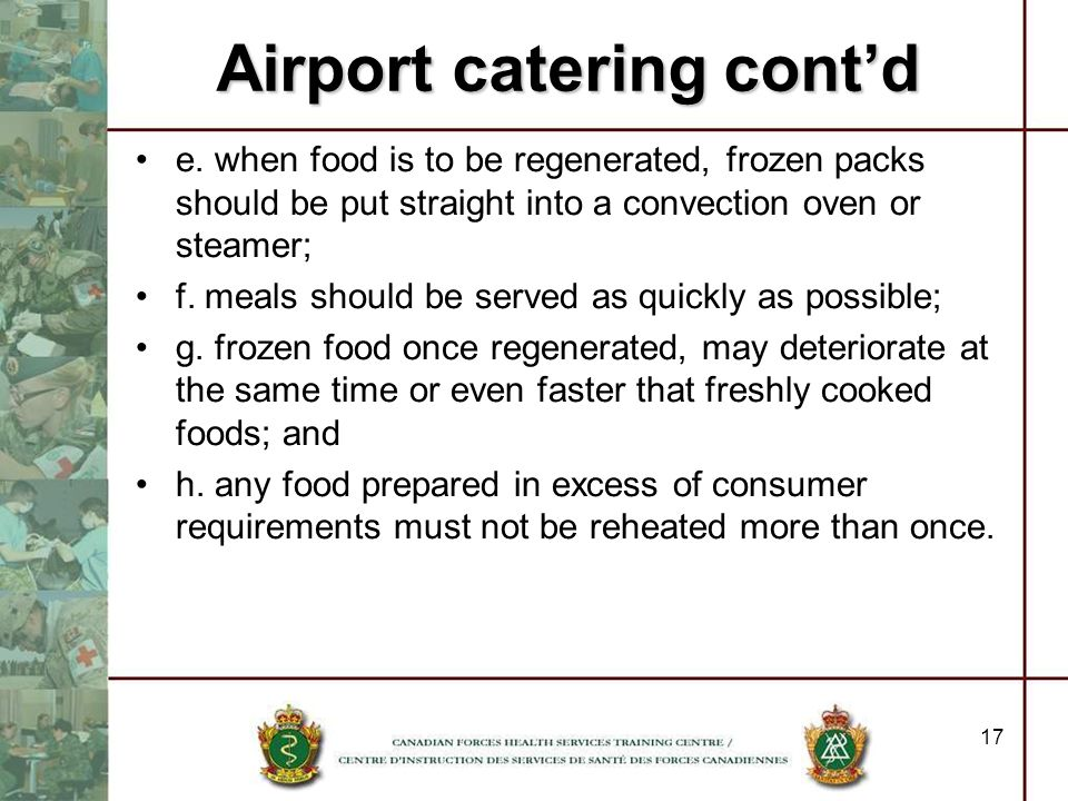Airport catering cont'd