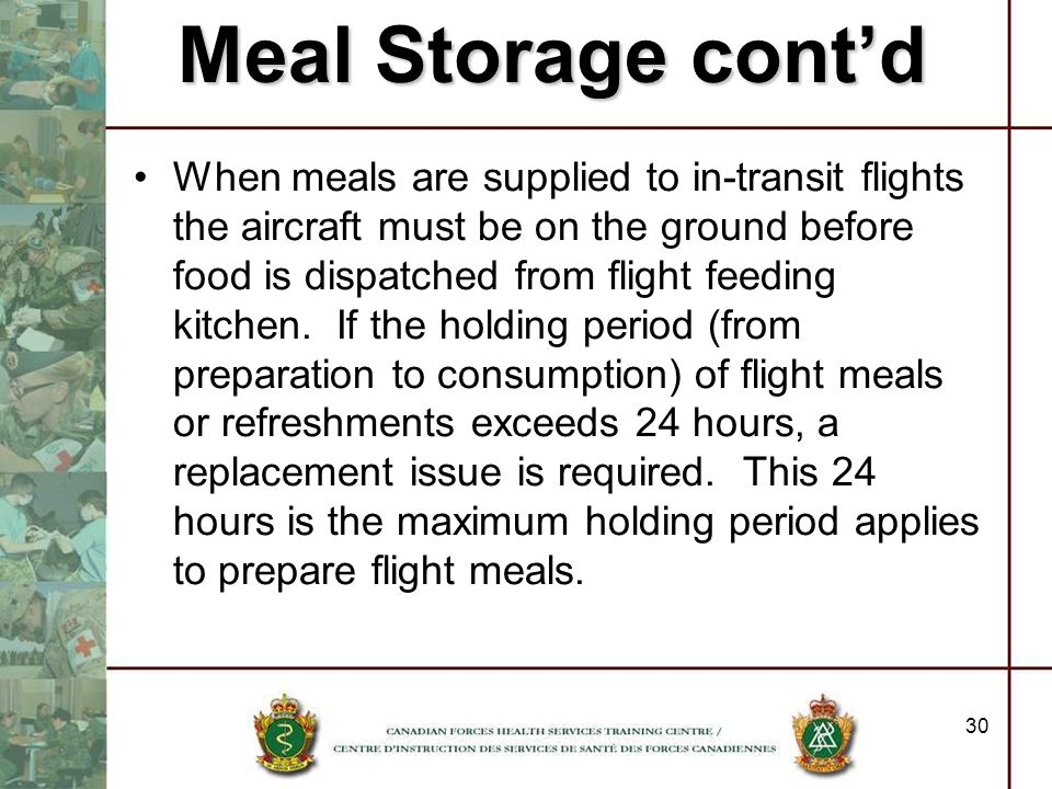 Meal Storage cont'd