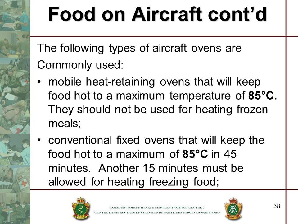 Food on Aircraft cont'd