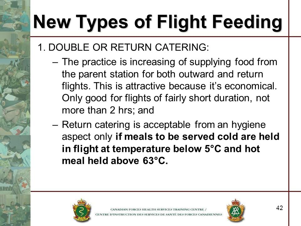 New Types of Flight Feeding