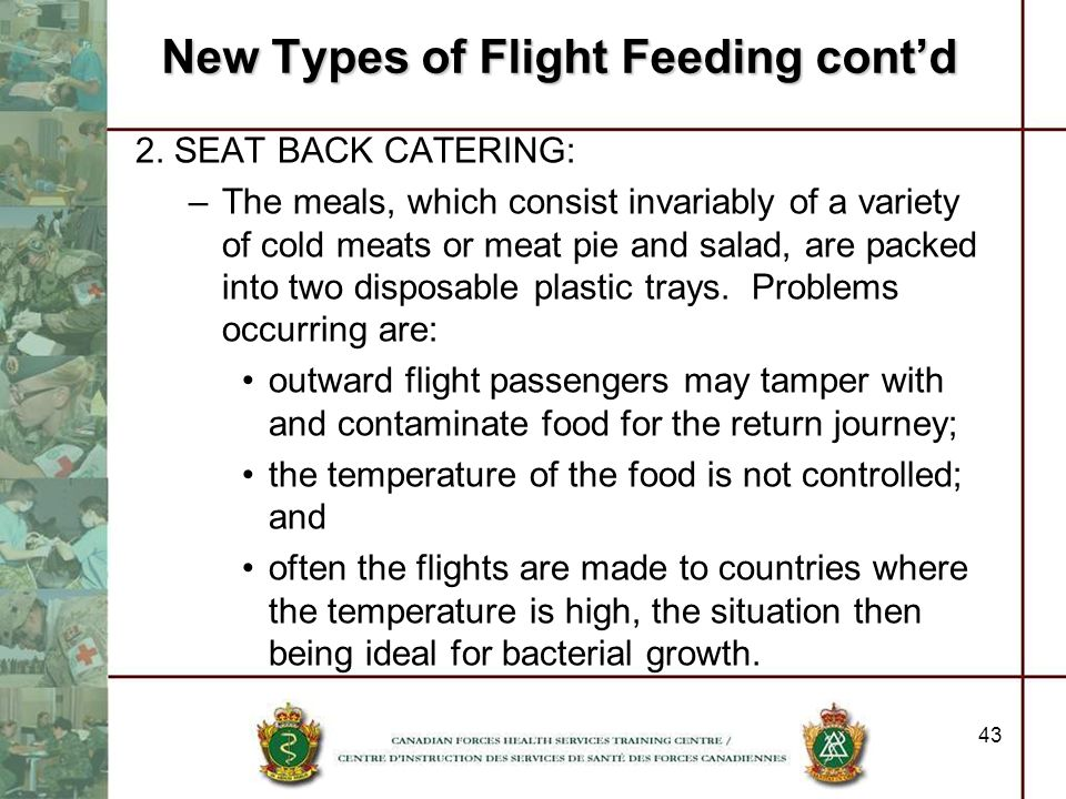 New Types of Flight Feeding cont'd