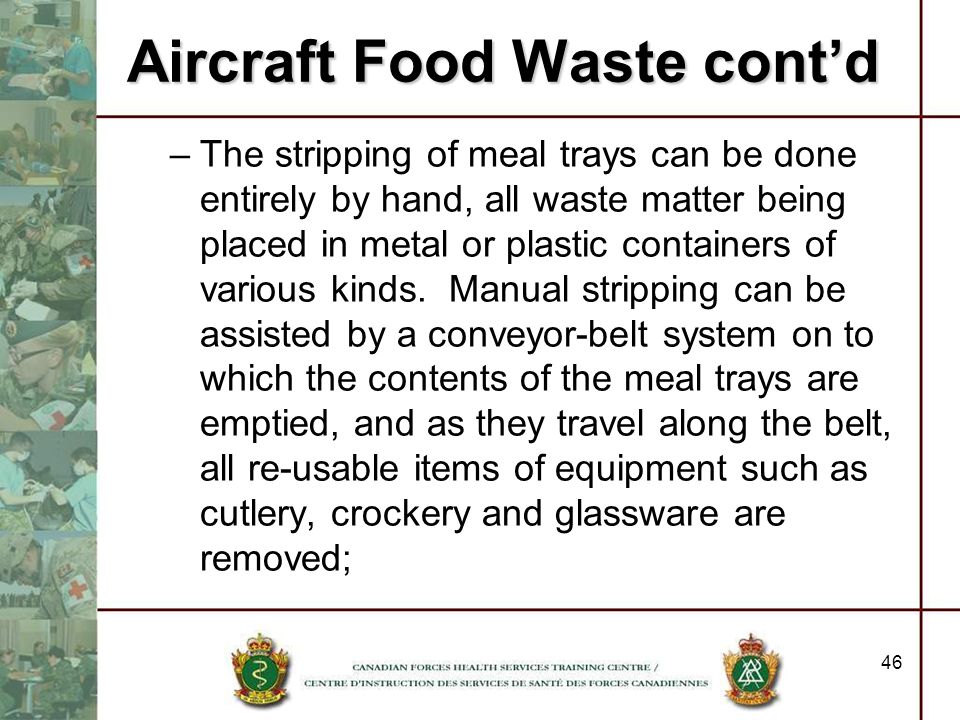 Aircraft Food Waste cont'd
