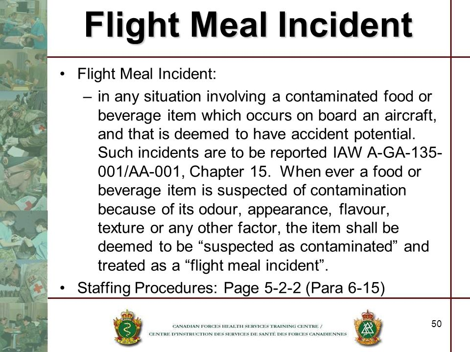 Flight Meal Incident Flight Meal Incident: