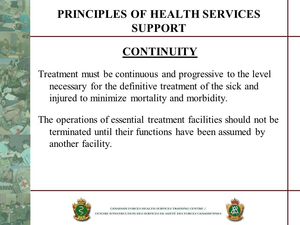 PRINCIPLES OF HEALTH SERVICES SUPPORT