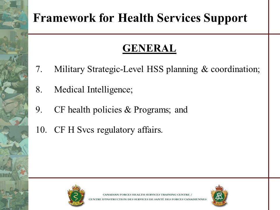 Framework for Health Services Support
