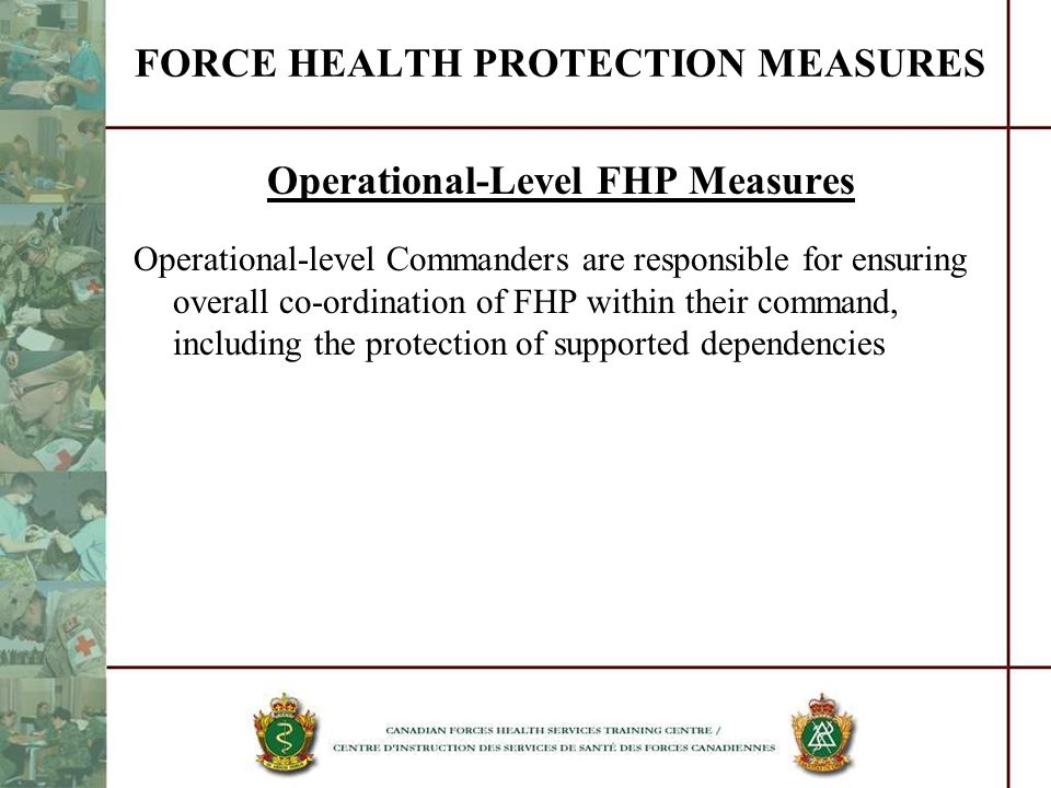FORCE HEALTH PROTECTION MEASURES