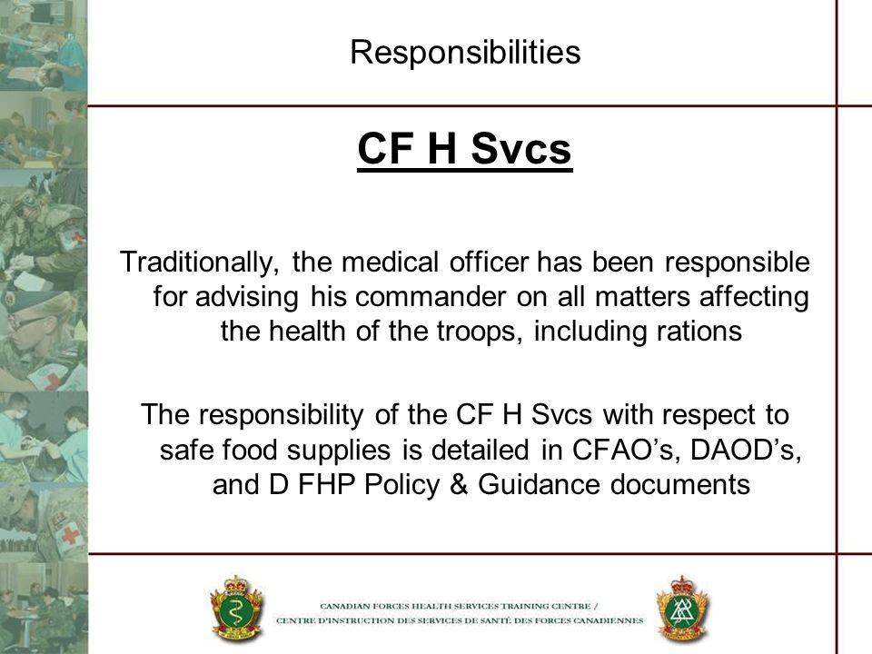 CF H Svcs Responsibilities