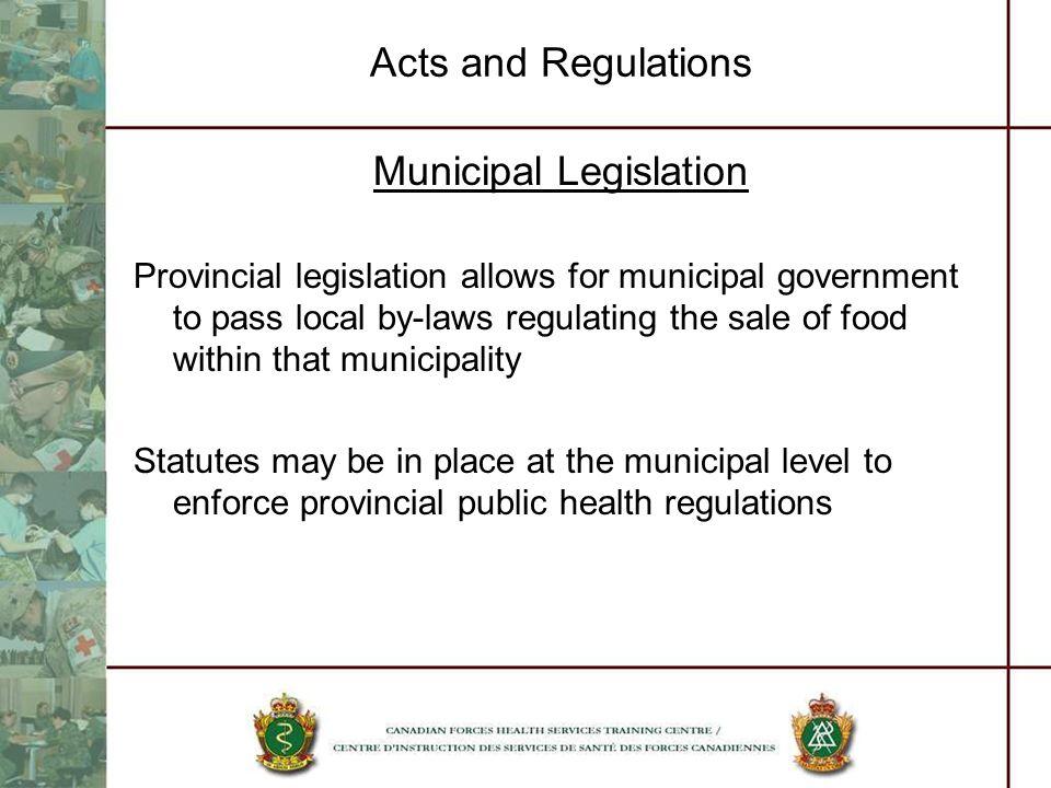 Municipal Legislation