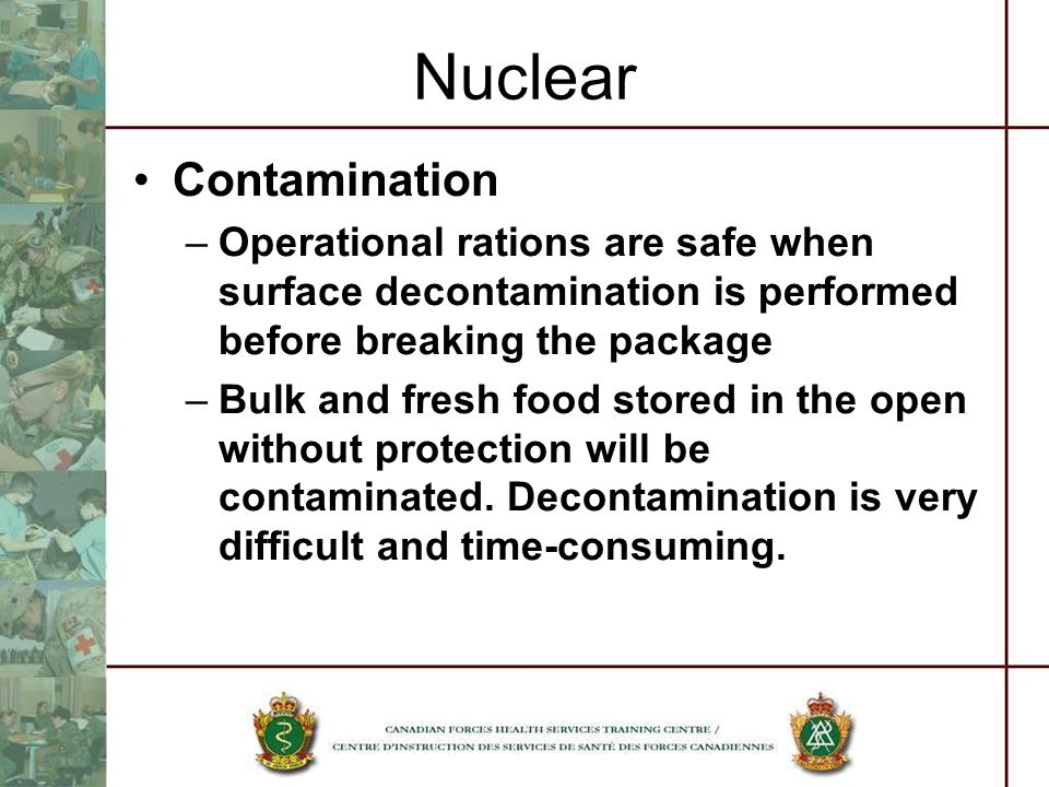 Nuclear Contamination