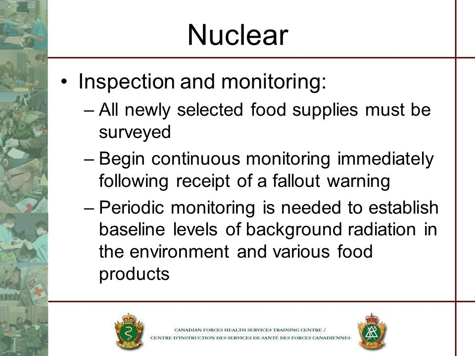 Nuclear Inspection and monitoring:
